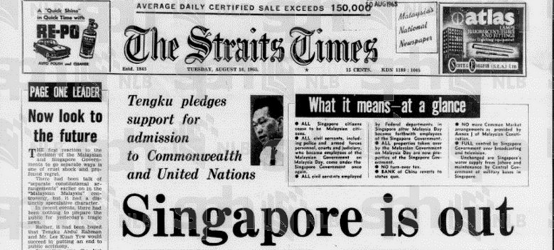 separation of singapore from malaysia Was singapore expelled from the malaysia federation or was the split based on  mutual consent a phd student pieces together a.
